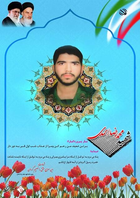 دلنوشته خانواده شهدا همه با هم - شهید محمد رضا احمدی/شهیدی که قبرش را نشان داد