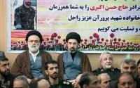 عکس/ مراسم ترحیم شهید حاج حسن اکبری محافظ مقام معظم رهبری